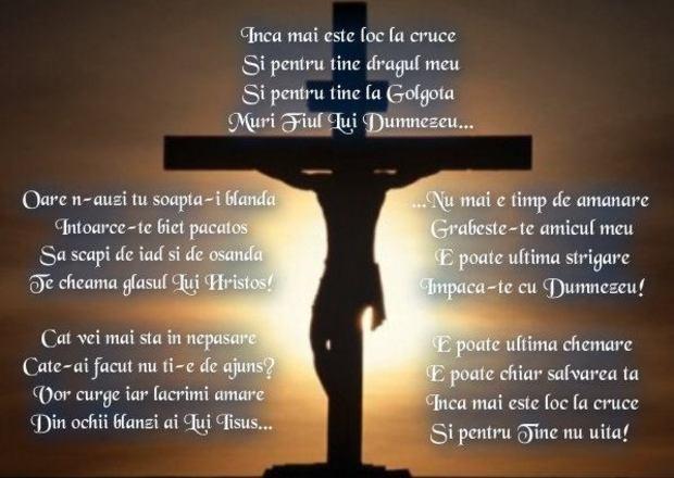 Încă mai este loc la cruce