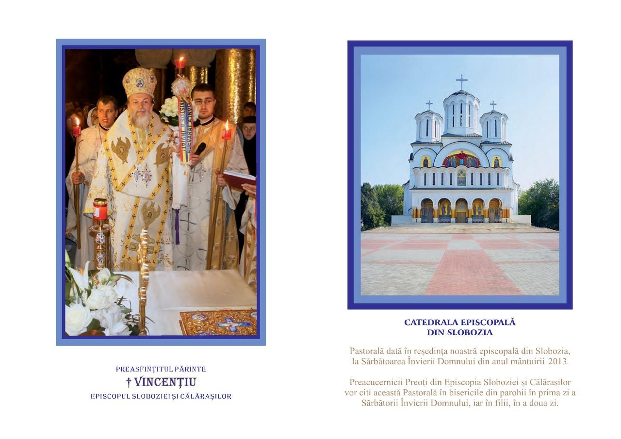 Pastorala de Paști Vicentiu Episcopul Sloboziei și Călărașilor