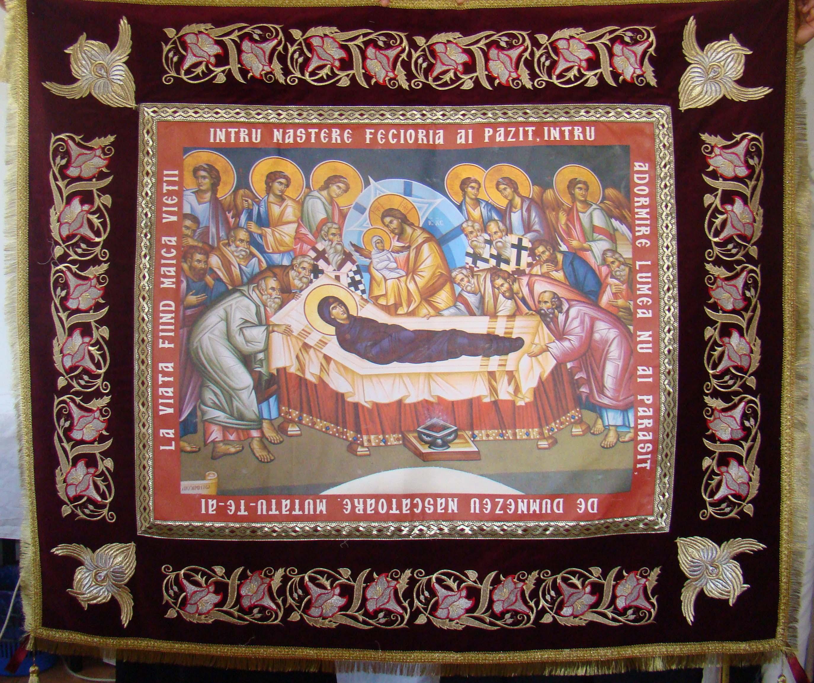 Epitaf brodat Maica Domnului