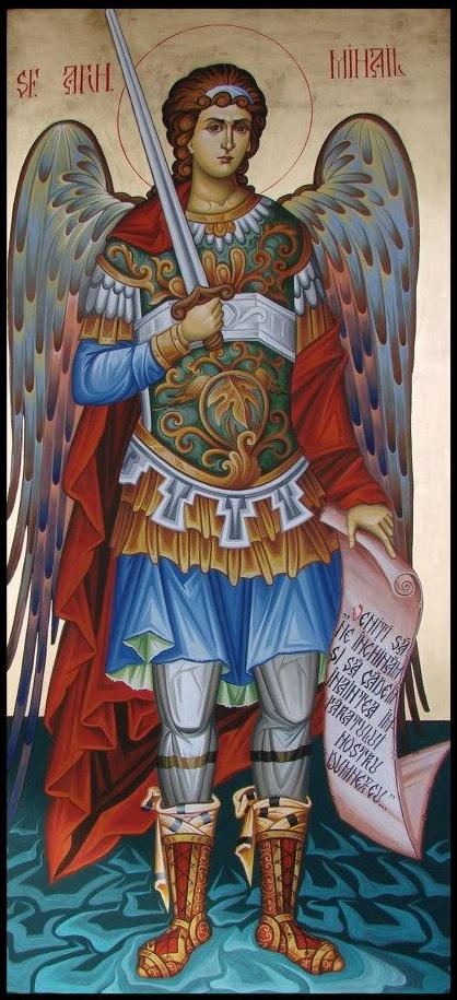 Sfântul Arhangel Mihail icoana pictată de Silvia Pătraşcu