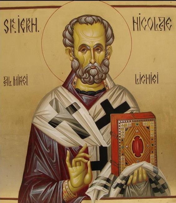 Sfântul Ierarh Nicolae - Icoană pictată de Silvia Pătraşcu